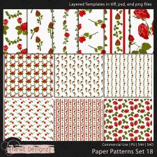 EXCLUSIVE Layered Paper Patterns Templates Set 18 by NewE Designz