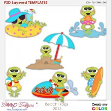 Beach Frog Layered Element Templates