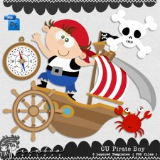 Pirate Boy Layered Template by Peek a Boo Designs