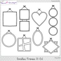 Doodles Frames 01 CU by Giane Designs