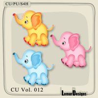 Elephants by Lemur Designs