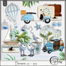 Elements CU - 307 Vintage nautical inspiration by Cajoline-Scrap