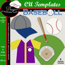 Baseball TEMPLATES by Boop Designs