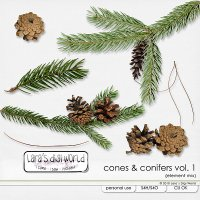 Cones & Conifers Vol. 1 by Lara�s Digi World