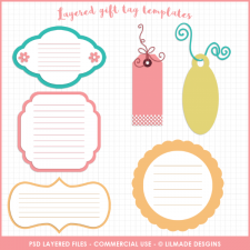 Layered gift tag templates Lilmade Designs