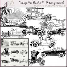 Vintage Mix Brushes Vol 9 by ADB Designs