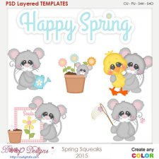 Spring Squeaks Layered Element Templates