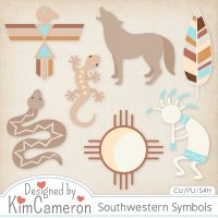 Southwestern Symbols Templates by Kim Cameron