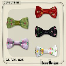 CU Vol 825 Bows by Lemur Designs