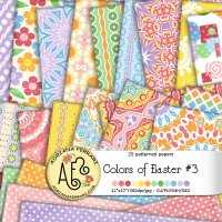 Colors of Easter 3 Papers by Adriana Ferrari