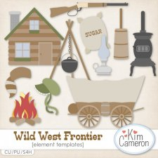 Wild West Frontier Templates by Kim Cameron