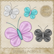 Butterfly Action 08 by Josy