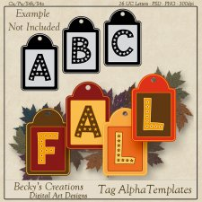 Tag Alpha Templates - PSD-PNG by Beckys Creations
