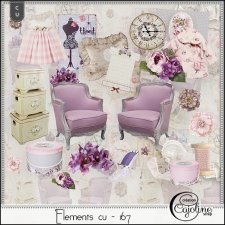 Elements CU - 167 Home Sewing Decor by Cajoline-Scrap
