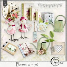 Elements CU - 306 Vintage inspiration in Paris by Cajoline-Scrap