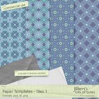 Paper Templates - Tiles 1