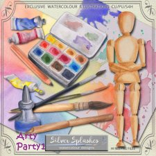 EXCLUSIVE Arty Party 1 Watercolour by Silver Splashes