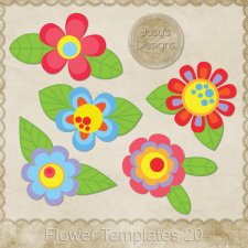 Flower Layered Templates 20 by Josy