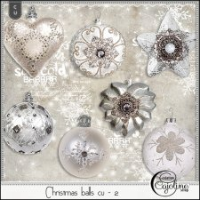 Christmas balls cu - 1 to 4 by Cajoline-Scrap