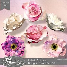 Designer Stash Vol 95 Fabric Softies - CU by Feli Designs