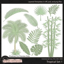 EXCLUSIVE Layered Tropical Templates Set 1 by NewE Designz
