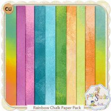 Rainbow Chalk Papers EXCLUSIVE by Papierstudio Silke
