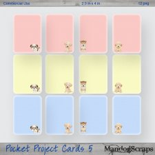 Pocket Project Cards 5 by Mandog Scraps