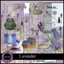 Exclusive Lavendar kit by Happy Scrap Art