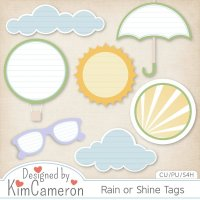 Rain or Shine Tags by Kim Cameron