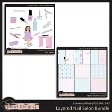 EXCLUSIVE Layered Nail Salon Bundle Templates by NewE Designz