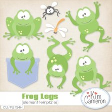 Frog Legs Templates by Kim Cameron