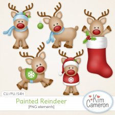 Painted Reindeer by Kim Cameron