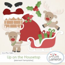 Up on the Housetop Templates by Kim Cameron