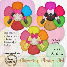Action - Charming Flower Girl by Rose.li