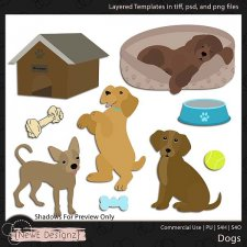 EXCLUSIVE Layered Dog Templates by NewE Designz