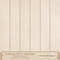 Patterns Set 6 – Delicate {CU/S4H} by SnickerdoodleDesigns
