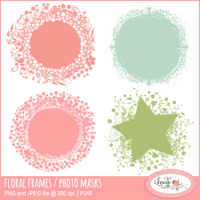 Floral photo masks clipping masks Lilmade Designs