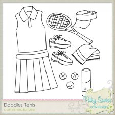 Doodles Tenis by Pathy Design