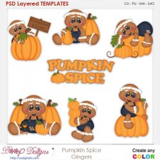 Pumpkin Spice Gingers Element Templates