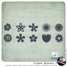 Flower Brushes 5 by MoonDesigns