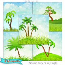 Scenic Papers 11 Jungle by kastagnette