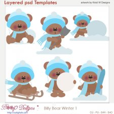 Billy Winter Layered Template COMBO Set