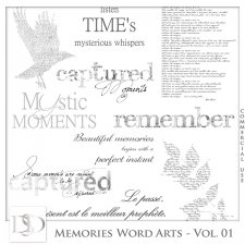 Memories Word Arts Vol 01 by D's Design