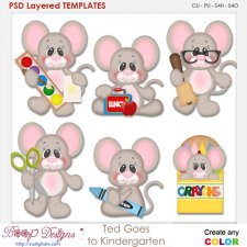 Ted Mouse Goes to Kindergarten Element Templates