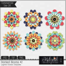 Flower Bloom Layered Templates Pack No 2