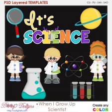 When I Grow Up Scientist Layered Element Templates
