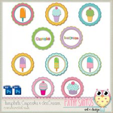 Template CupCake & Ice Cream by Pathy Design