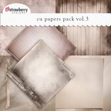 CU Papers Vol 3 Brown by Strawberry Designs
