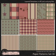 EXCLUSIVE Layered Paper Patterns Templates Set 30 by NewE Designz