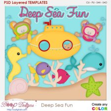 Deep Sea Fun Layered Element Templates